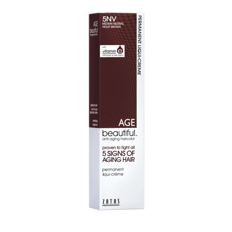 5NV Medium Neutral Violet Brown Permanent Liqui-Crème Haircolor Neutral Violet Collection
