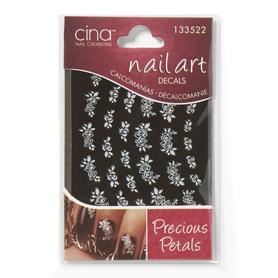 Precious Petals Rhinestone Art Jewelry Decals