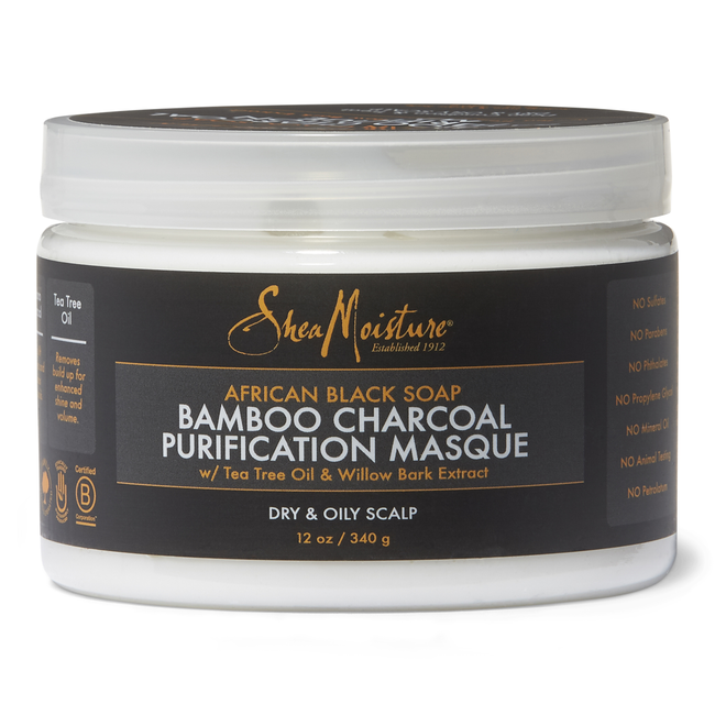 African Black Soap Bamboo Charcoal Purification Masque