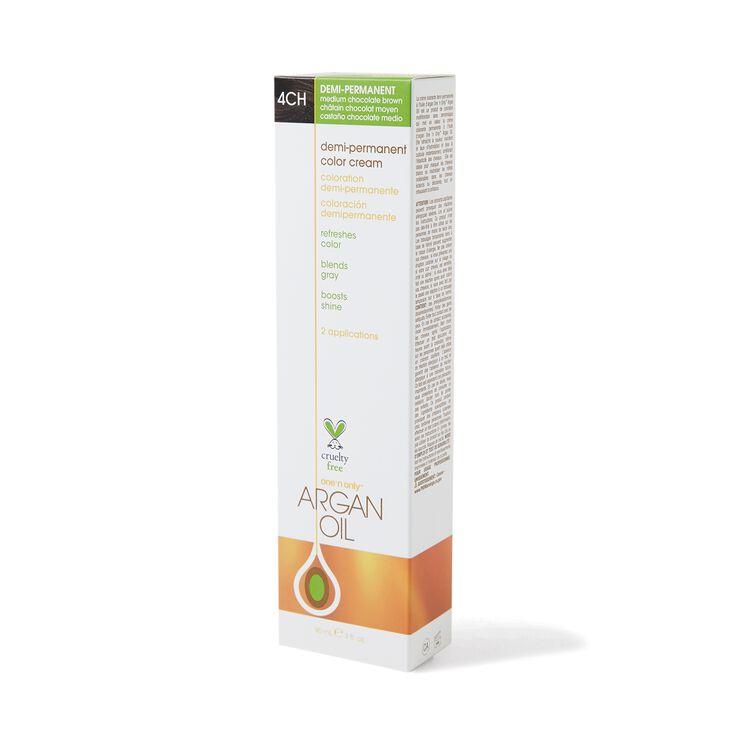 Argan Oil Demi Permanent Color Cream 4CH Med Chocolate Brown