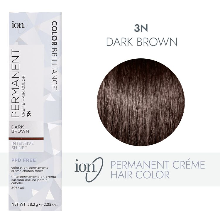 3N Dark Brown Permanent Creme Hair Color