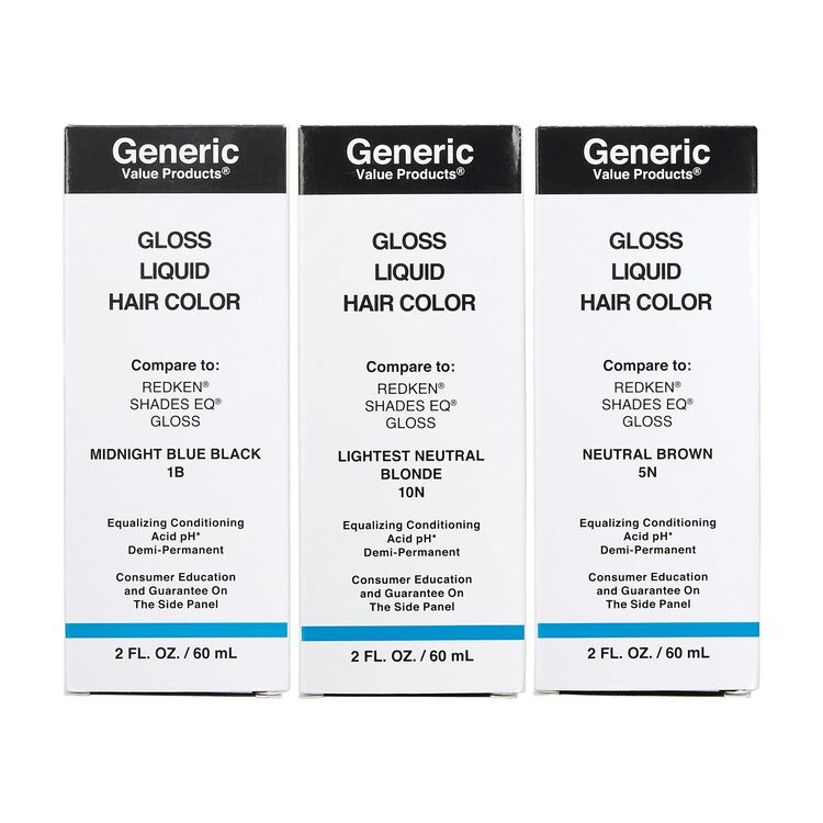 Demi-Permanent Gloss Liquid Hair Color Compare to Redken® Shades EQ®