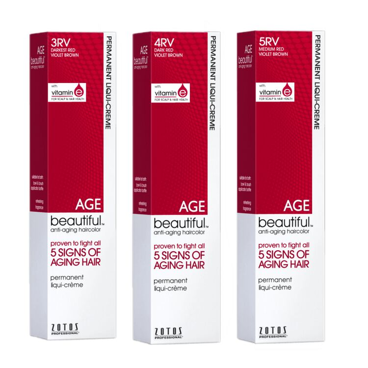 Permanent Liqui Crème Hair Color Red Violets Collection