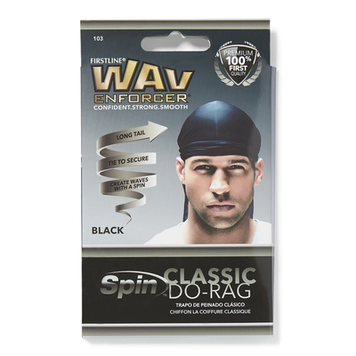 Black Do-Rag Wave & Curl Cap