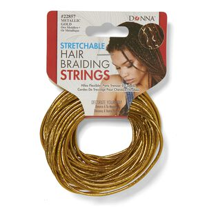 Gold Stretchable Hair Braiding String