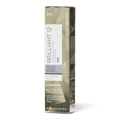Brilliant 12 Intense Neutrals 4NN Medium Intense Brown Permanent Crème Hair Color