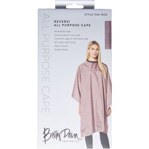Reversible Metallic Rose Cape