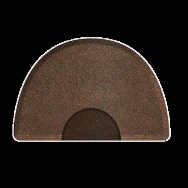 3 X 5 Granite Copper Round Mat with Chair Depression
