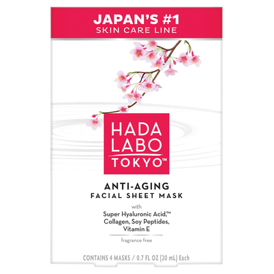 Anti-Aging Facial Sheet Mask 4 pack