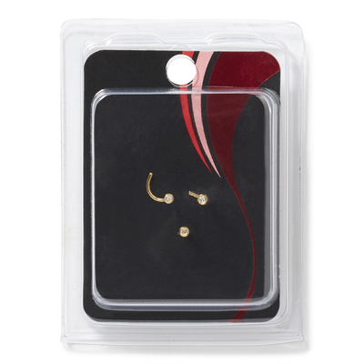 Gold Plated 1mm Nose Jewel 3 Pack