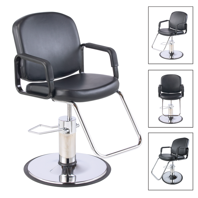 Pibbs Chameleon Black Styling Chair
