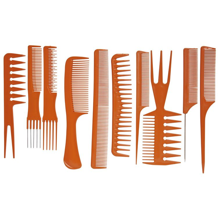10 Piece Styling Comb Kit