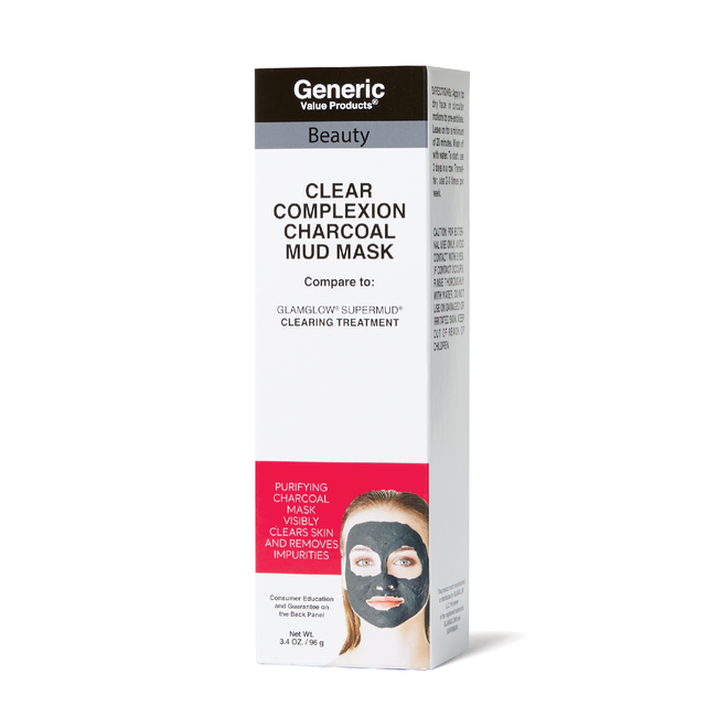 Clear Complexion Charcoal Mud Mask Compare to GLAMGLOW* SUPERMUD* Clearing Treatment