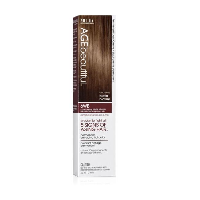 6WB Light Warm Beige Brown Liqui-Permanent Haircolor