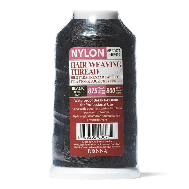 Black 875 Yard Hair Weaving Thread