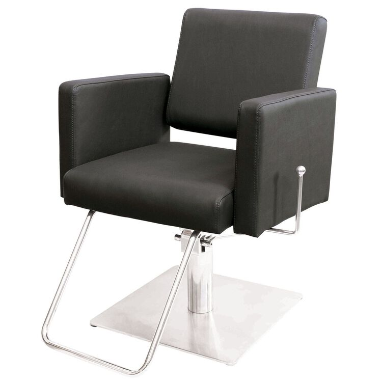 Piper Styling Chair with Square Base Grey