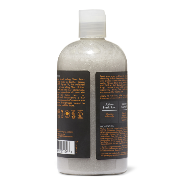 African Black Soap Bamboo Charcoal Deep Cleansing Shampoo
