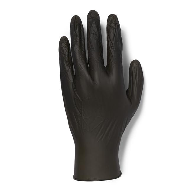 100 Count Black Vinyl Gloves-Extra Large