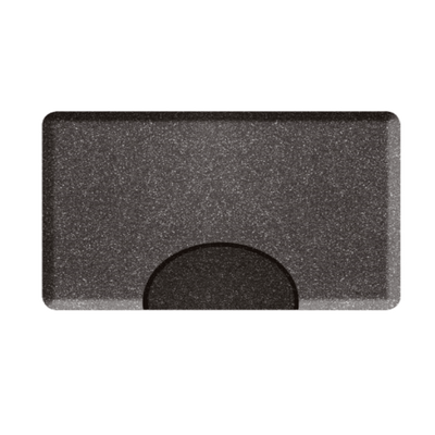 3 X 4.5 Granite Steel Rectangle Mat with Chair Depression