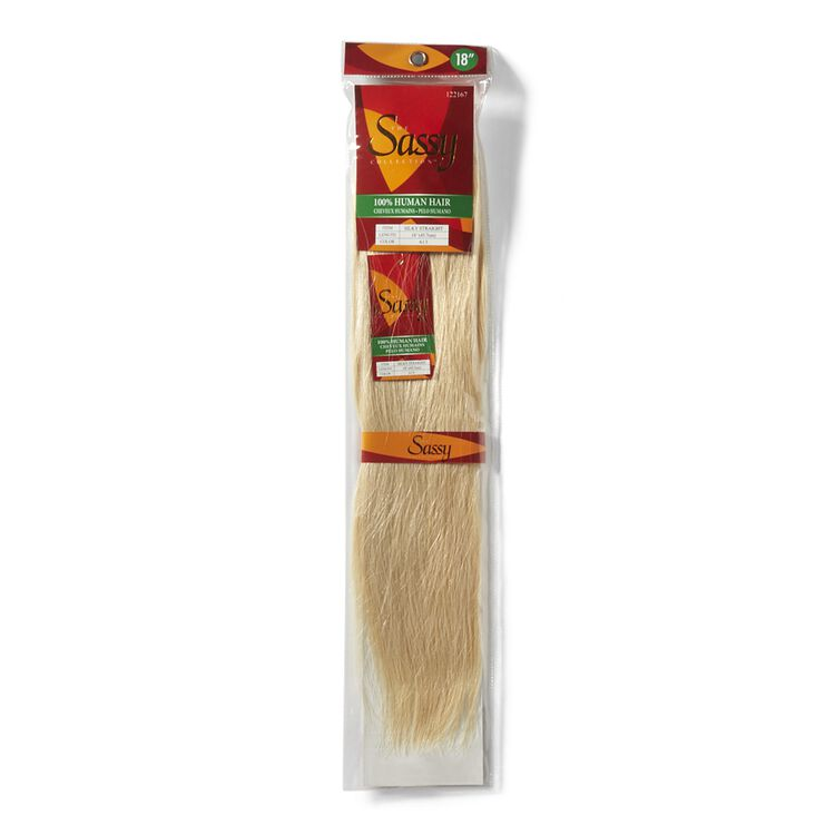 Silky Straight Platinum Blonde 18 Inch Human Hair Extension