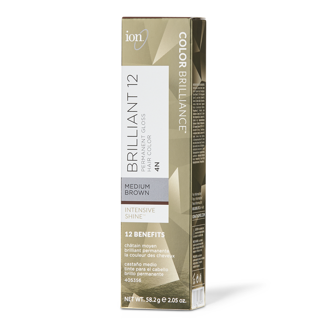4N Medium Brown Permanent Gloss Hair Color