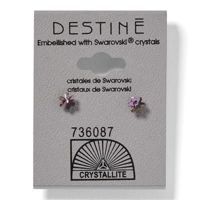 Destine Violet Snowflake Earrings