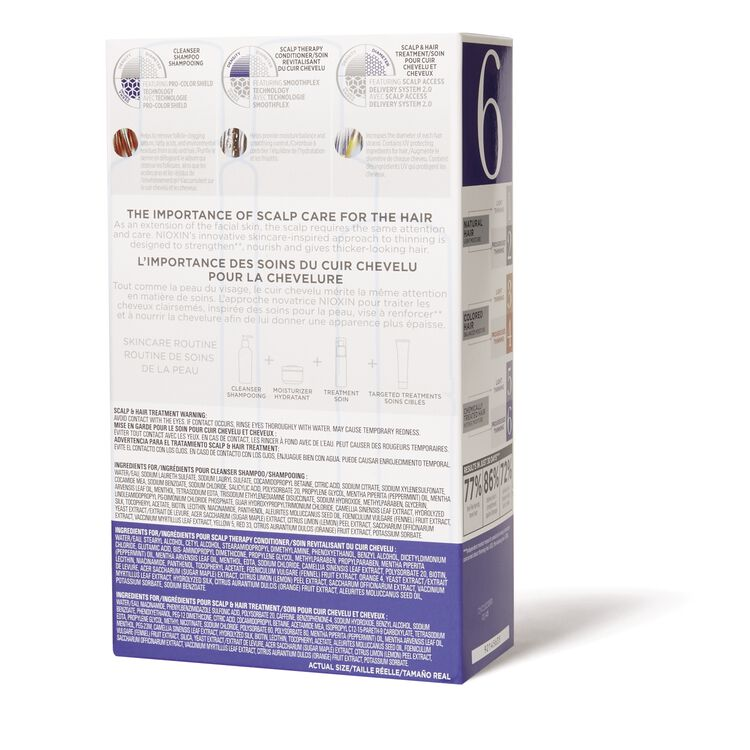 System 6 for Chemically Treated Progressed Thinning Hair Trial Kit