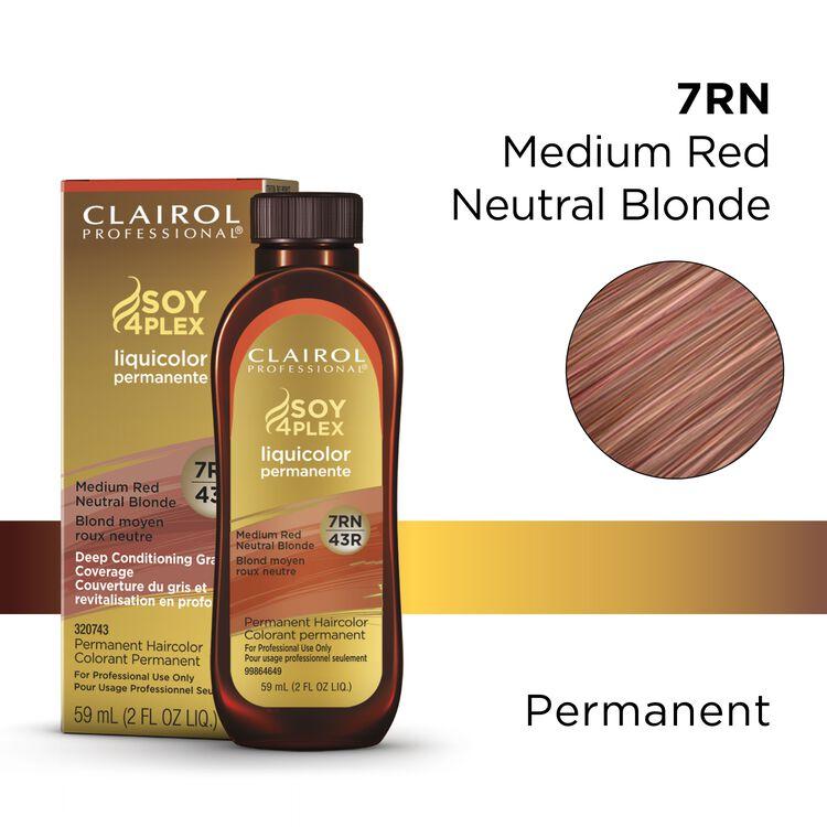 7RN/43R Medium Red Neutral Blonde LiquiColor Permanent Hair Color
