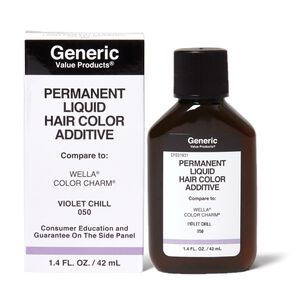 Violet Chill 050 Permanent Liquid Hair Color Additive Compare to Wella® Color Charm®