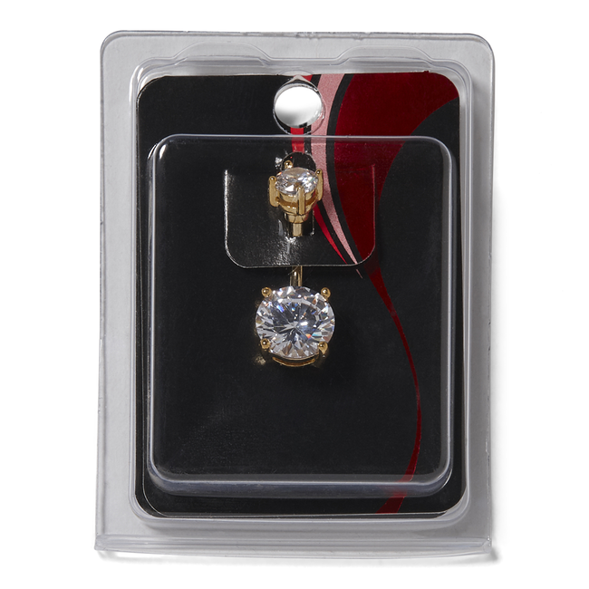 Gold Plated 14G Navel Dangle