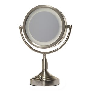 8X-1X Lighted Vanity Makeup Mirror