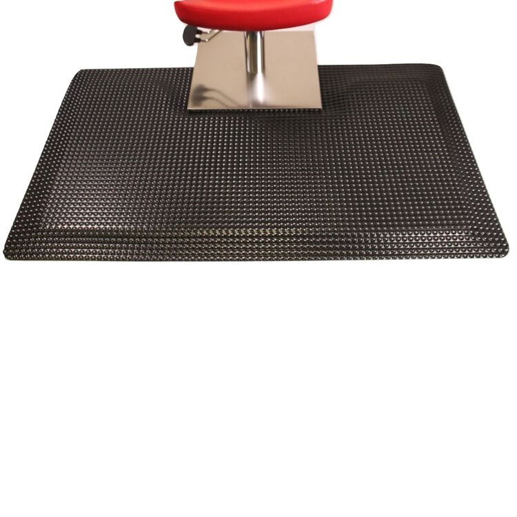 Reflex Salon Mat with Square Base Black with Square Cut Out