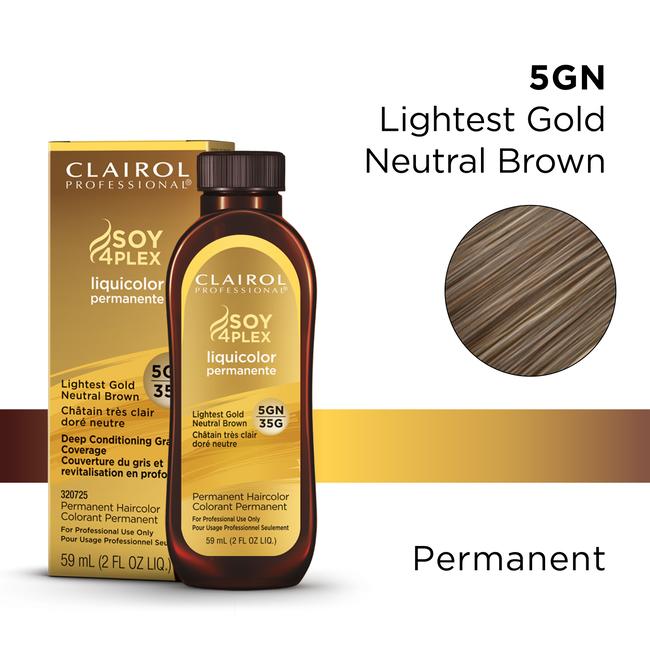 5GN/35G Lightest Gold Neutral Brown LiquiColor Permanent Hair Color