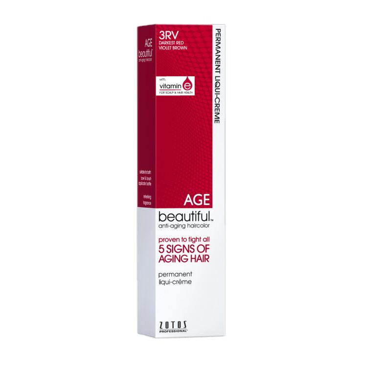 3RV Darkest Red Violet Brown Permanent Liqui Crème Hair Color Red Violets Collection