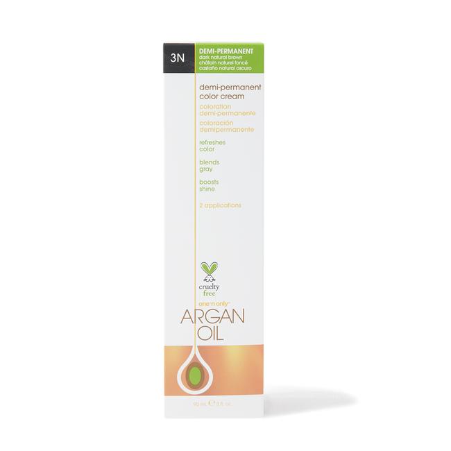 Argan Oil Demi Permanent Color Cream 3N Dark Natural Brown