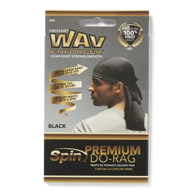 Premium Black Do-Rag