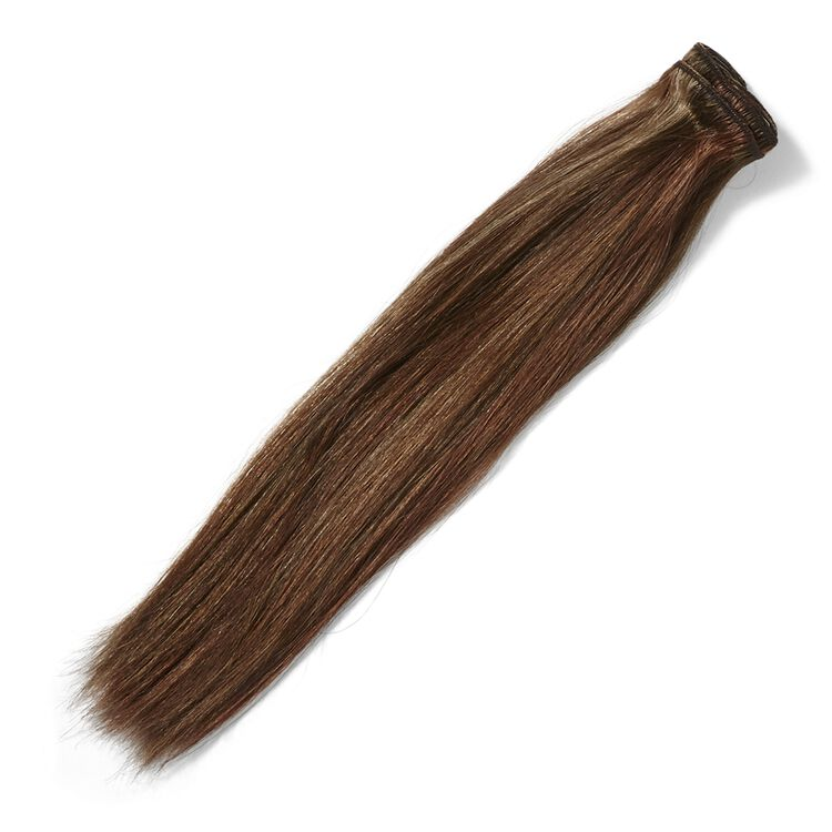 Clip In Toffee Brown 14 Inch Human Hair Extensions