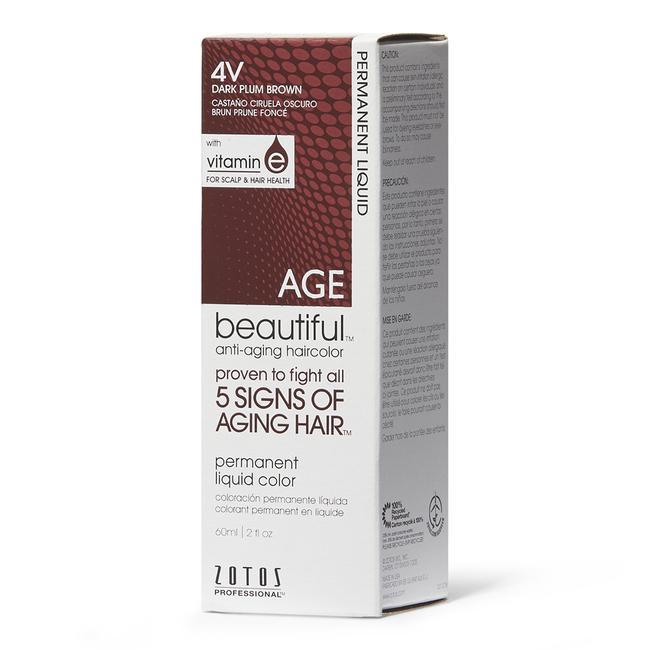 Anti-Aging Dark Plum Brown Permanent Liquid Hair Color