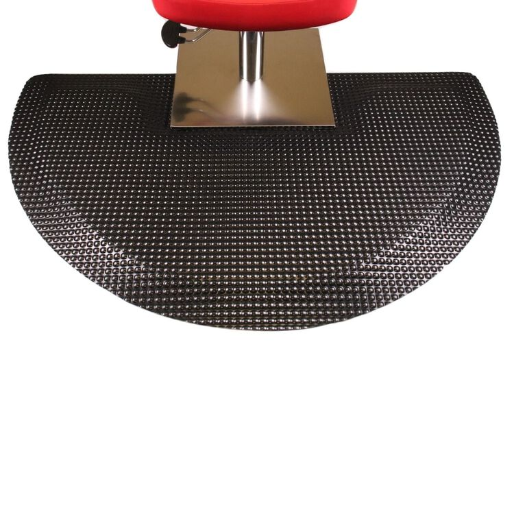 Reflex Beauty Salon Semi-Circle Black Mat with Square Cut Out