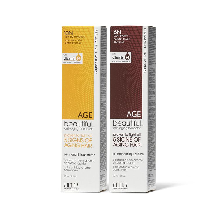 Agebeautiful Anti Aging Liqui Creme Permanent Hair Colors