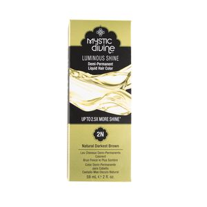 2N Natural Darkest Brown Demi-Permanent Liquid Hair Color