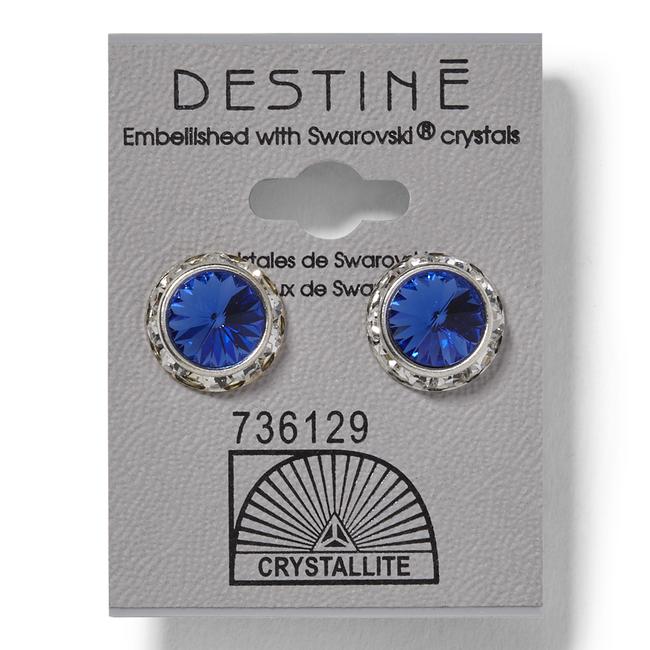 Destine Rivoli Earrings Sapphire