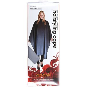 Black & Grey Ombre Hairstyling Cape