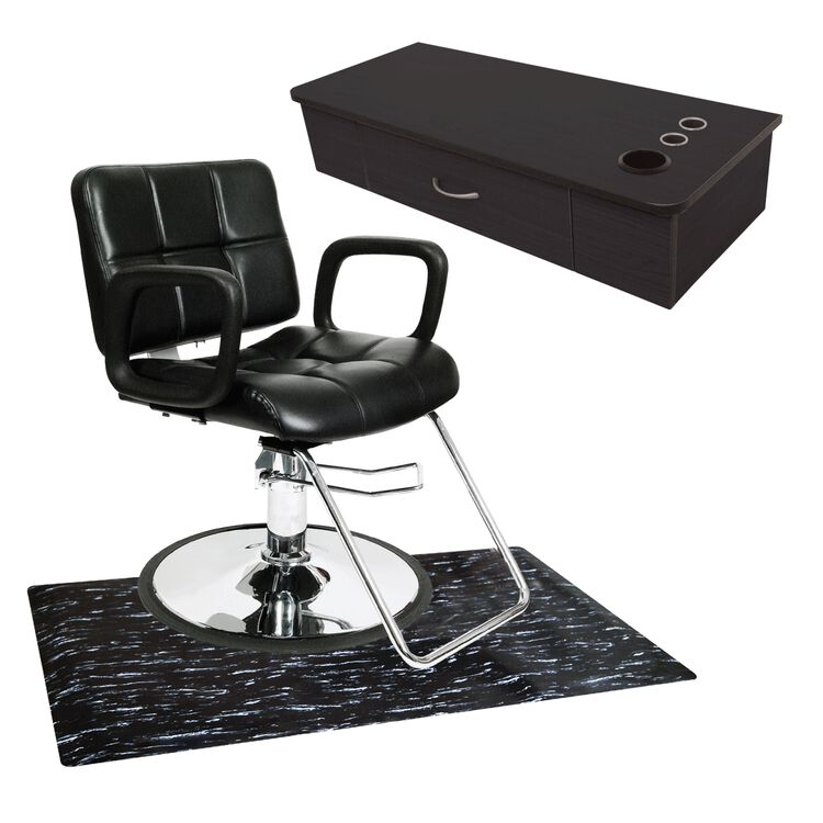 Black Station Package With Rectangle Mat