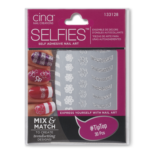 Cina Nail Creations #TipTop Self Adhesive Nail Art by Selfies ...