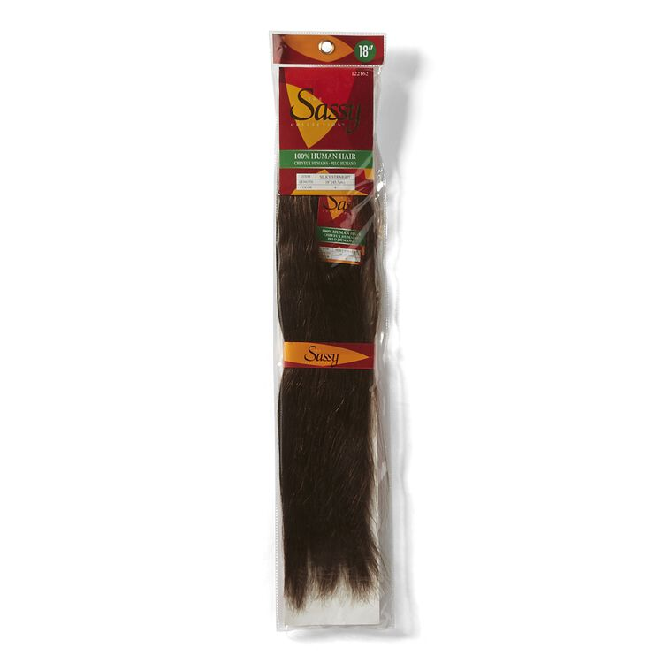 Silky Straight Brown 18 Inch Human Hair Extension