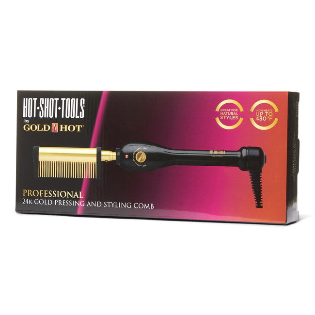 24K Gold Pressing and Styling Comb