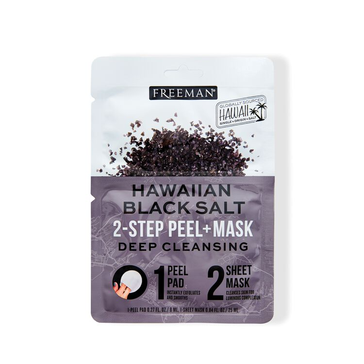 2-Step Peel Pad + Sheet Mask Hawaiian Black Salt