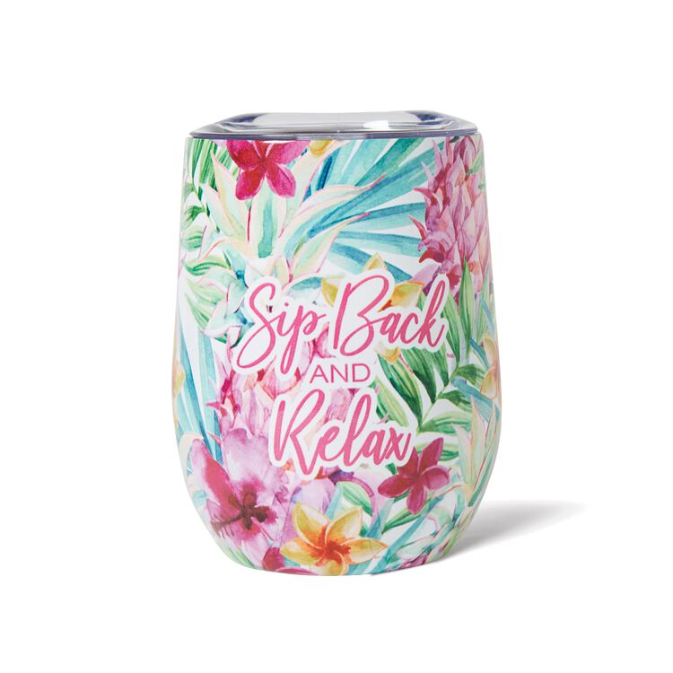 Tropical Wine Tumbler
