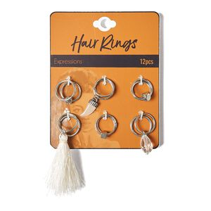 Tassel Hair Ring Set
